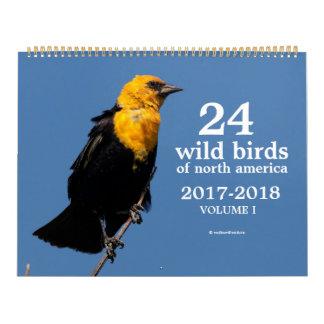 24 Wild Birds of North America Volume I 2017-2018 Calendar