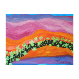 """24""""x18"""" Size Acrylic Painting Of """"Channel Of Trees Canvas Print"""