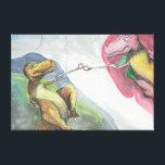 """24&quot;x20&quot;x.75&quot; Stretched Canvas &quot;Creation of T-Rex&quot;<br><div class=""""desc"""">A witty representation of Michelangelo&#39;s &quot;Creation of Adam.&quot; Original artwork by Lindsey D. Shannon.</div>"""
