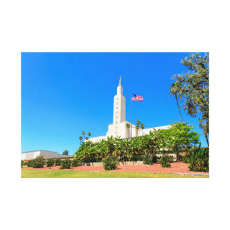 """24"""" X 16"""" Wrapped Canvas Los Angeles Temple"""