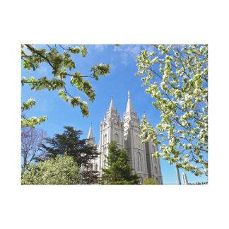 """24"""" X 18"""" Canvas Salt Lake City LDS Temple"""