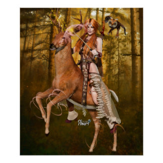 """24"""" x 20"""" Banrion Foraoise ~Forest Queen~ Poster"""