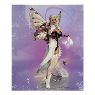 "24"" x 20"" C.C. CeeCee ~Lover Of Swans~ Poster"