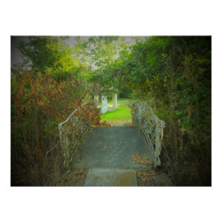"24"" x 20"" Overgrown footbridge Poster"
