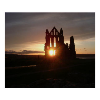 "24"" x 20"", Poster of Whitby Abbey, UK, England"