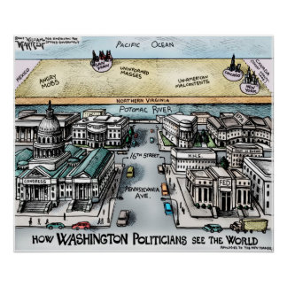 """24"""" x 20"""", Poster - View from Washington, D.C."""