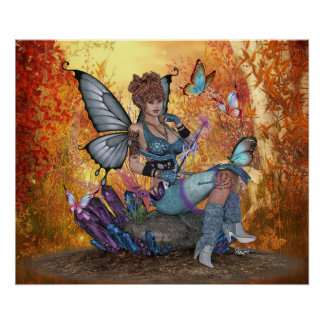"24"" x 20"" Rhea Sofia ~Butterfly Fae~ Poster"