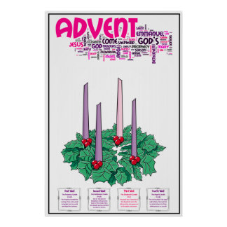 """24"""" x 36"""" Advent Poster"""