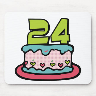 24 Year Old Birthday Cake Mouse Pad