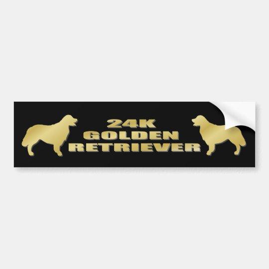 24K Golden Retriever Bumper Sticker