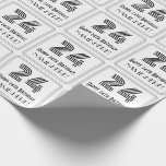 """[ Thumbnail: 24th Birthday: Art Deco Inspired Style """"24"""" + Name Wrapping Paper ]"""