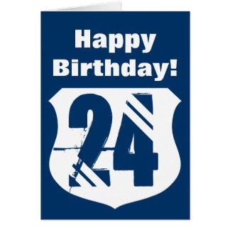 24th Birthday card