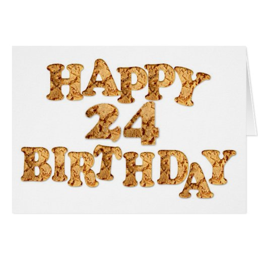 24th Birthday card for a cookie lover