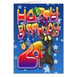 24th Birthday Card, Happy Birthday Card