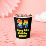 [ Thumbnail: 24th Birthday: Colorful, Fun, Exciting, Rainbow 24 ]