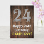 [ Thumbnail: 24th Birthday: Country Western Inspired Look, Name Card ]