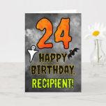 [ Thumbnail: 24th Birthday: Eerie Halloween Theme + Custom Name Card ]