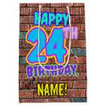 [ Thumbnail: 24th Birthday: Fun, Urban Graffiti Inspired Look Gift Bag ]