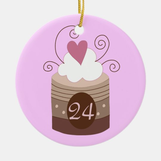 24th Birthday Gift Ideas For Her Ceramic Ornament