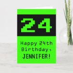 """[ Thumbnail: 24th Birthday: Nerdy / Geeky Style """"24"""" and Name Card ]"""