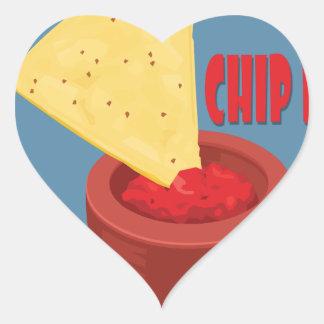 24th February Tortilla Chip Day - Appreciation Day Heart Sticker