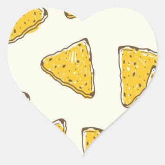 24th February-Tortilla Chip Day - Appreciation Day Heart Sticker