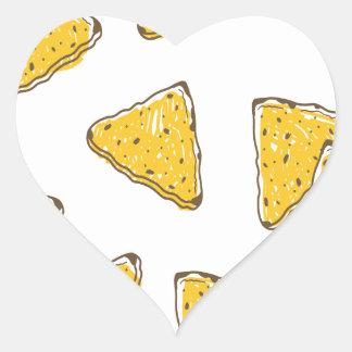 24th February - Tortilla Chip Day Heart Sticker