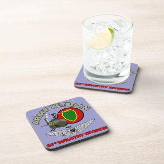 24th ID Huey w/ Wings Beverage Coaster