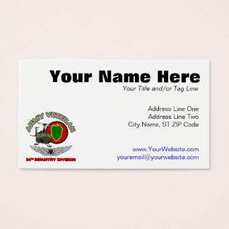 24th ID Huey w/ Wings Business Card