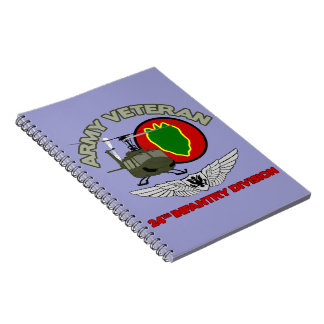 24th ID Huey w/ Wings Spiral Notebook