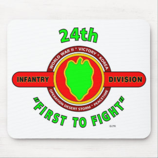 """24TH INFANTRY DIVISION """"FIRST TO FIGHT"""" PRODUCTS MOUSEPADS"""