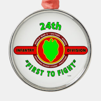 """24TH INFANTRY DIVISION """"FIRST TO FIGHT"""" PRODUCTS ORNAMENT"""