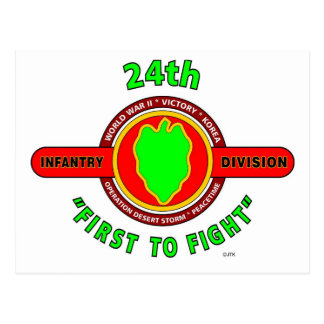 "24TH INFANTRY DIVISION ""FIRST TO FIGHT"" PRODUCTS POSTCARD"