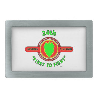 "24TH INFANTRY DIVISION ""FIRST TO FIGHT"" PRODUCTS RECTANGULAR BELT BUCKLE"