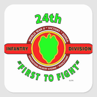 "24TH INFANTRY DIVISION ""FIRST TO FIGHT"" PRODUCTS SQUARE STICKER"