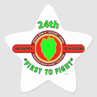 """24TH INFANTRY DIVISION """"FIRST TO FIGHT"""" PRODUCTS STAR STICKER"""