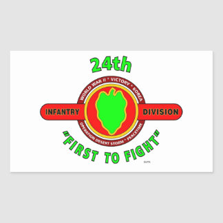 "24TH INFANTRY DIVISION ""FIRST TO FIGHT"" PRODUCTS RECTANGULAR STICKER"