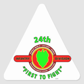 "24TH INFANTRY DIVISION ""FIRST TO FIGHT"" PRODUCTS STICKERS"