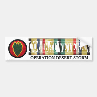 24th Infantry Division SWA Combat Veteran Sticker