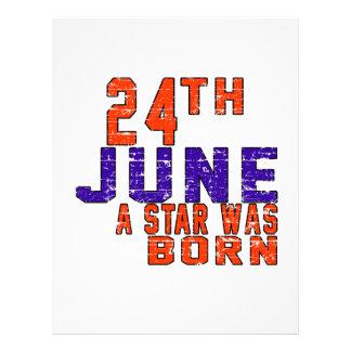 24th June a star was born Letterhead Design