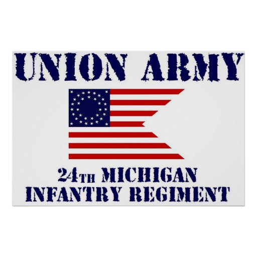 24th Michigan Infantry Regiment, Civil War Poster