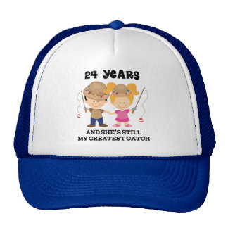 24th Wedding Anniversary Gift For Him Trucker Hat