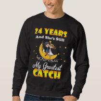 24th Wedding Anniversary Shirt. Gift For Husband Sweatshirt