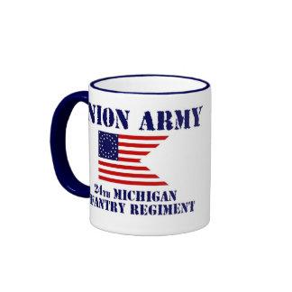24to Regimiento de infantería de Michigan, taza de