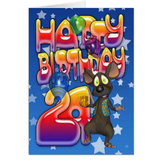 24to Tarjeta de cumpleaños feliz cumpleaños