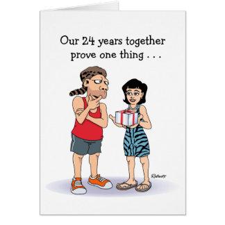 24to Tarjeta del aniversario de boda Amor
