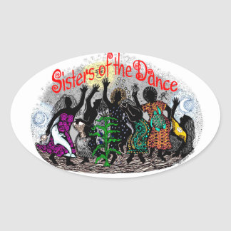 24tos pegatinas largos anuales de la danza de la pegatina óval