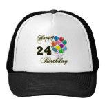 24tos regalos de cumpleaños felices con los globos gorros bordados