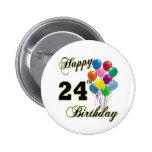 24tos regalos de cumpleaños felices con los globos pin
