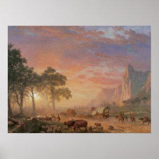 24x18 Vintage Oregon Trail Poster